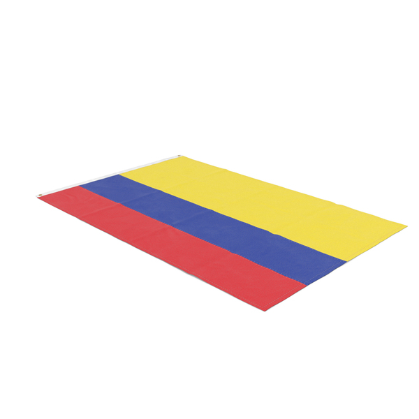 Flag Laying Pose Colombia PNG & PSD Images
