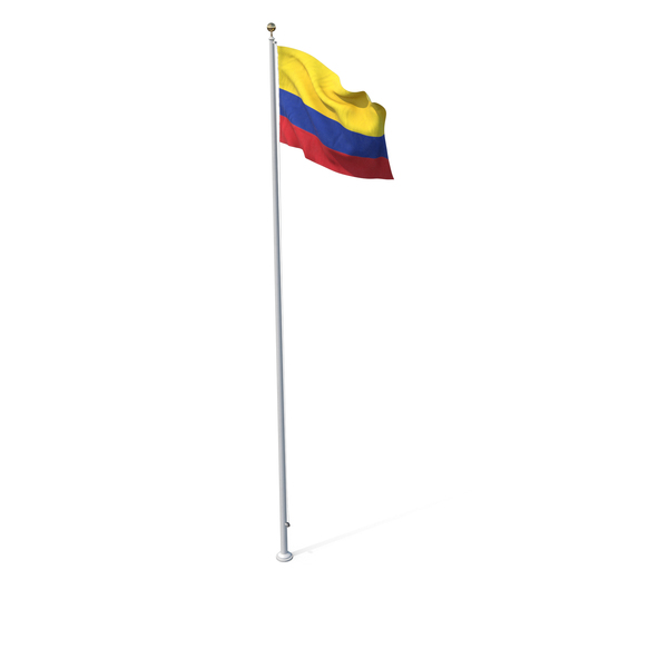 Flag On Pole Colombia PNG & PSD Images
