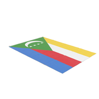 Flag Laying Pose Comoros PNG & PSD Images