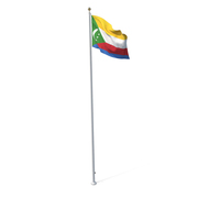 Flag on Pole Comoros PNG & PSD Images