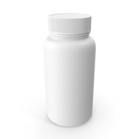 Plastic Bottle Pharma Round 120ml Closed PNG & PSD Images