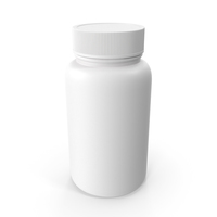 Plastic Bottle Pharma Round 500ml Closed PNG & PSD Images