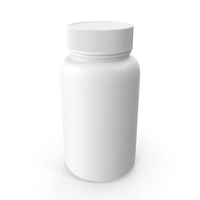 Plastic Bottle Pharma Round 950ml Closed PNG & PSD Images