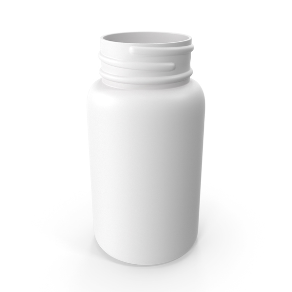 Plastic Bottle Pharma Round 950ml No Cap PNG & PSD Images