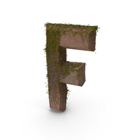 Ancient Stone With Ivy Letter F PNG & PSD Images