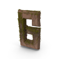 Ancient Stone With Ivy Letter G PNG & PSD Images