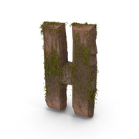 Ancient Stone With Ivy Letter H PNG & PSD Images