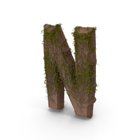 Stone With Ivy Letter N PNG & PSD Images