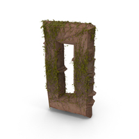 Stone With Ivy Letter O PNG & PSD Images