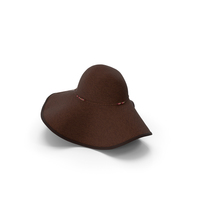 Womens Sun Hat Brown PNG & PSD Images