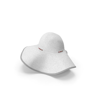 Womens Sun Hat White PNG & PSD Images