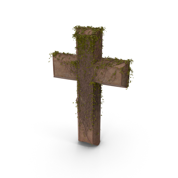 Stone Cross With Ivy PNG & PSD Images