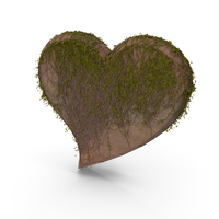 Stone Heart With Ivy PNG & PSD Images