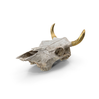Cow Skull With Golden Horns PNG & PSD Images