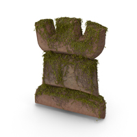 Stone With Ivy Chess Rook Symbol PNG & PSD Images