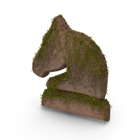 Stone With Ivy Chess Knight Symbol PNG & PSD Images