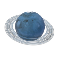 Fictional Blue Planet With Ring PNG & PSD Images