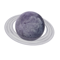 Fictional Purple Planet with Ring PNG & PSD Images