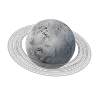 Fictional White Planet with Ring PNG & PSD Images