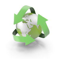 Earth Recycle Logo PNG & PSD Images
