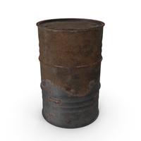 Rusted Oil Barrel PNG & PSD Images