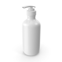 Bottle with Dispenser White PNG & PSD Images