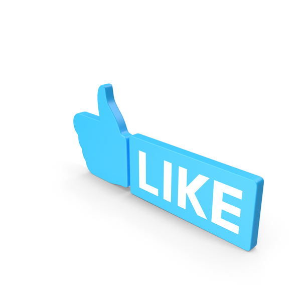 Like Blue Web Icon PNG & PSD Images