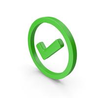 Check Circled Green Web Icon PNG & PSD Images