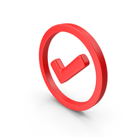 Check Circled Red Web Icon PNG & PSD Images