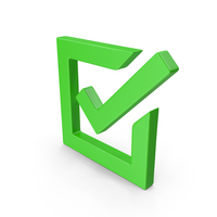 Checked Green Box Web Icon PNG & PSD Images