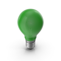 Lightbulb Green Glossy PNG & PSD Images