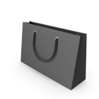 Black Packaging Bag with Black Handles PNG & PSD Images