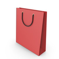 Red Packaging Bag with Black Handles PNG & PSD Images