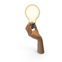 Hand Holding Lightbulb Turned On PNG & PSD Images