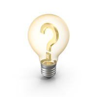 Lightbulb Question Mark PNG & PSD Images