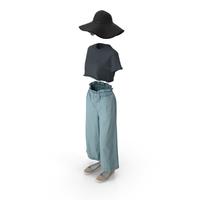Women's Pants Shirt Shoes Hat Sunglasses PNG & PSD Images