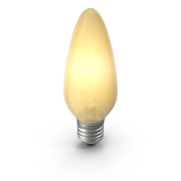 Pointy Lightbulb Turned On PNG & PSD Images
