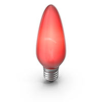 Pointy Lightbulb Red Turned On PNG & PSD Images