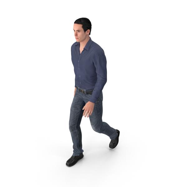 Casual Man James Walking PNG & PSD Images