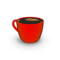 Coffee Cup Small Red Cartoon PNG & PSD Images