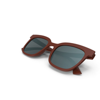 Women's Sunglasses Closed Brown PNG & PSD Images