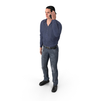 Casual Man James Talking On The Phone PNG & PSD Images