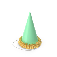 Green Party Hat with Yellow Frill PNG & PSD Images