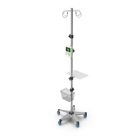 IV Stand 3D Model PNG & PSD Images