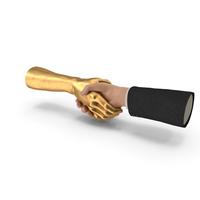 Handshake Human Golden Hand PNG & PSD Images