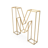 Decorative Wire Letter M PNG & PSD Images
