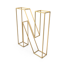 Decorative Wire Letter N PNG & PSD Images