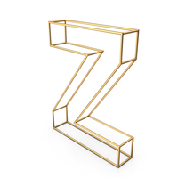 Decorative Wire Letter Z PNG & PSD Images