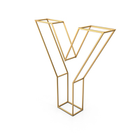 Decorative Wire Letter Y PNG & PSD Images