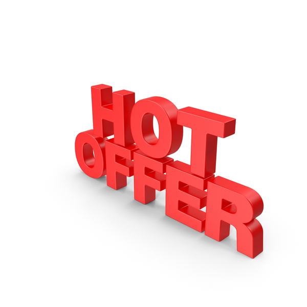 Hot Offer 3D Text PNG & PSD Images